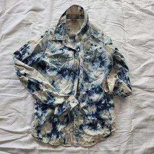 Mossimo Acid wash Denim button-down shirt